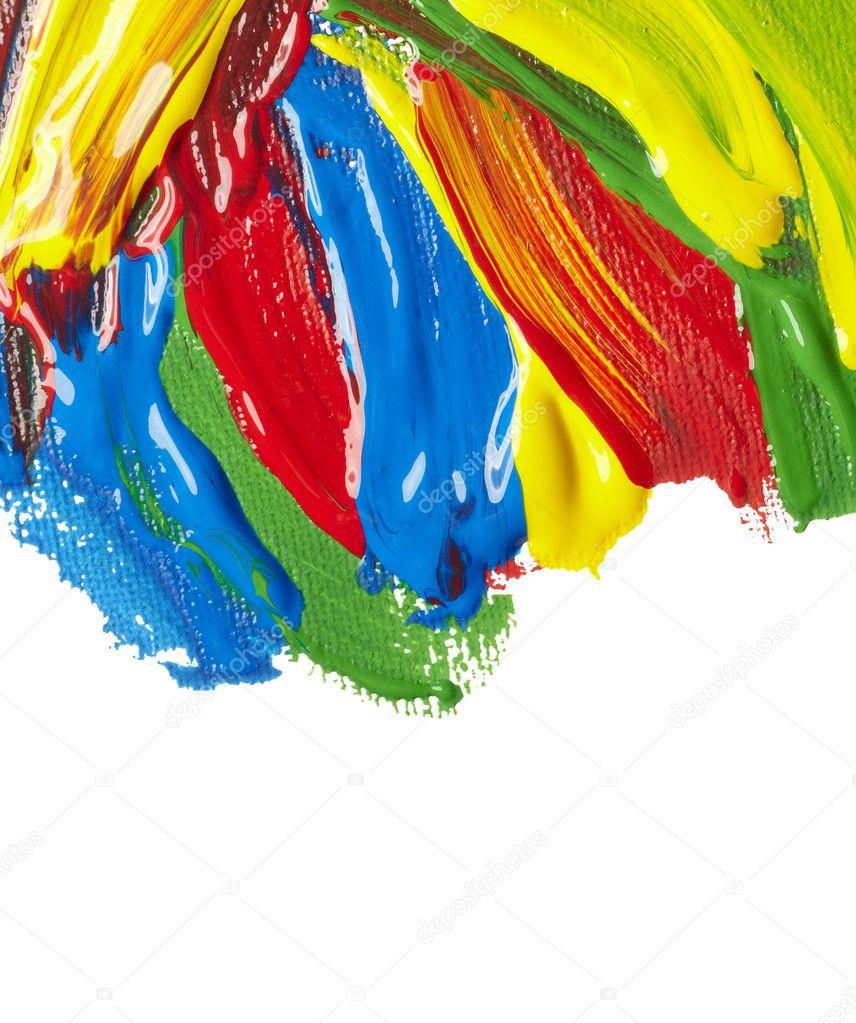 Поздравление в краске