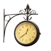 Old grunge antique wall clock — Stock Photo