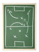 Спортивный тренер команды доске классе футбол тактика — Стоковое фото