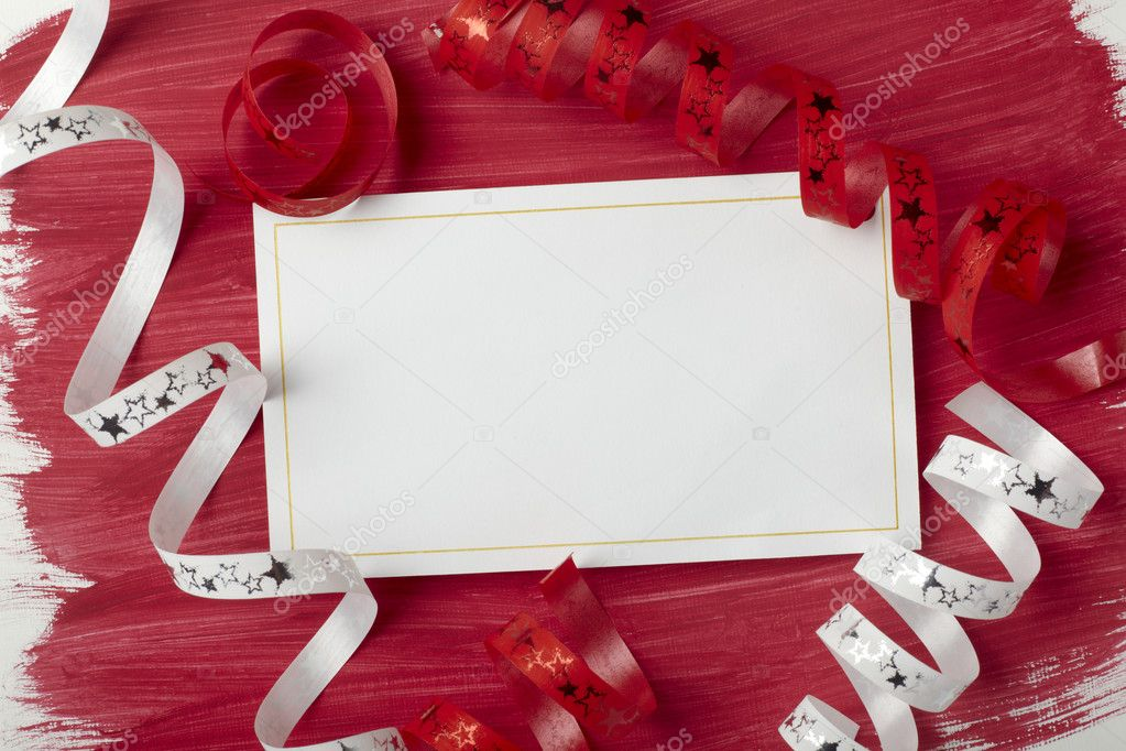 Close up of a greeting card with decoration — Stock Photo #11405999