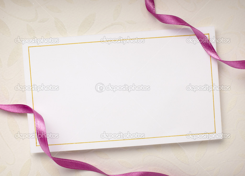 Close up of a greeting card with decoration — Stock Photo #11407098