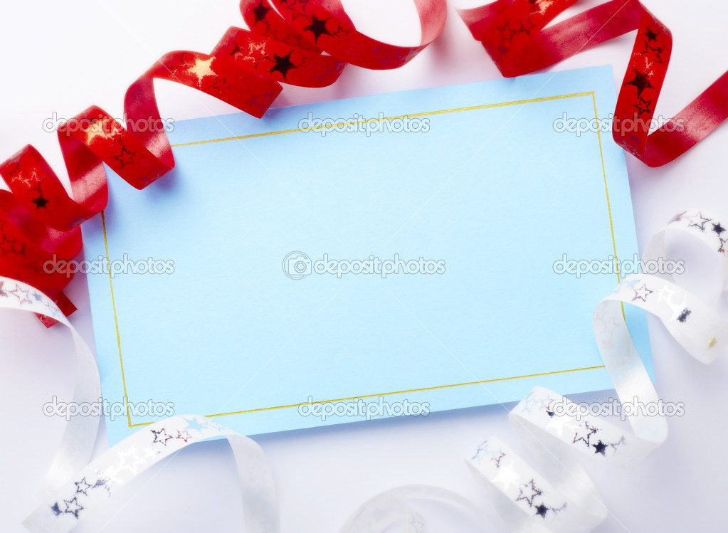 Close up of a greeting card with decoration — Stock Photo #11407205