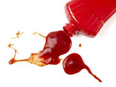 Ketchup stain dirty seasoning condiment food — Stock Photo