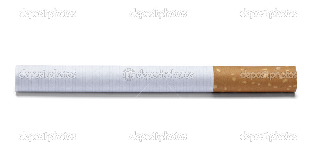Close up of a cigarette on white background with clipping path — Stock Photo #11418269