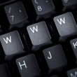 Keyboard computer letter word web techniology — Stock Photo