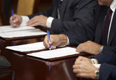 Signature signing contract office business — Stock Photo
