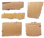 Ripped cardboard piece paper note — Stock Photo