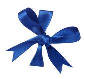 Ruban bleu célébration anniversaire de noël — Photo