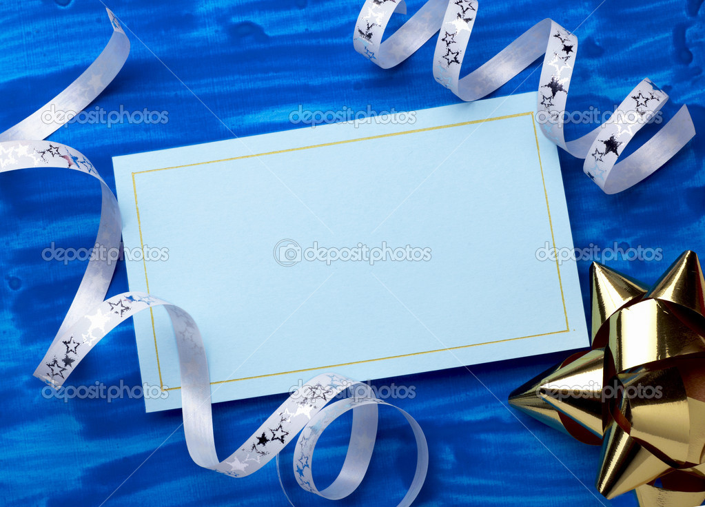 Close up of a greeting card with decoration — Stock Photo #11475929