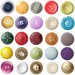 Sewing button clothing — Stock Photo #11709597