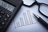 Diagram graph for finance business — Stock Photo