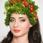 Amusing vegetarian — Stock Photo