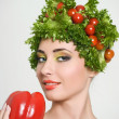 Amusing vegetarian — Stock Photo #10780553