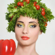 Amusing vegetarian — Stock Photo
