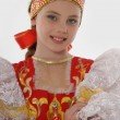 Girl  In Russian Traditional Clothing — Stock Photo