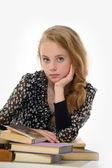 Studentka s knihami — Stock fotografie
