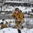 Military historical reconstruction of World War II. - Stock Photo