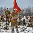 Military historical reconstruction of World War II. - ストック写真