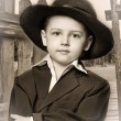 Little boy and a hat — Stock Photo #11040493