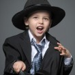 Little boy and a hat — Stock Photo