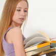 Young woman with books — Stock Photo #11451606