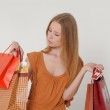 Woman with shopping — Stock Photo #11451724