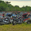 Gathering of bikers — Stock Photo