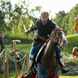 Stock Photo: Knights jousting