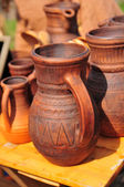 Clay pots vases for sale — Stock Photo