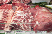 Meat-butcher's shop — Stock Photo