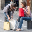 Two Grils While They Speak after to Have Made a Shopping — Stock Photo #11541359