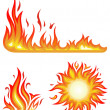 Vector set: fire flames - collage — Stock Vector #11446414