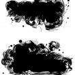 Stock Vector: Black stains
