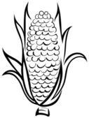 Corn symbol — Stock Vector