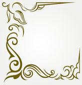 Kaligrafické konstrukční prvek a stránky dekorace — Stock vektor