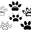 Animal paw prints — Stock Vector