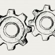 Vector gears — Stock Vector