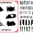 Stock Vector: Set of grunge brush strokes