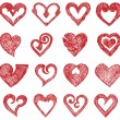 Vector hearts set — Stock Vector