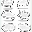Hand drawn thought bubbles — Stock Vector