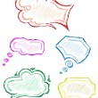 Hand drawn thought bubbles - Stock Vector