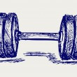 Sketch dumbbell weight — 图库矢量图片
