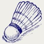 Sketch badminton ball — Stock Vector