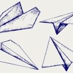 Paper planes — Stock Vector #11452546
