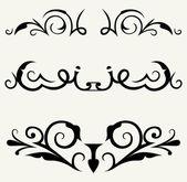 Decoración de página y elementos de diseño caligráfico — Vector de stock