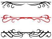 Calligraphic design elements and page decoration — Cтоковый вектор