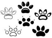 Animal paw prints — Stock Vector