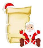 Santa claus - en blanco — Vector de stock