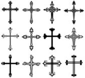Religiösa cross design collection — Stockvektor