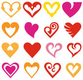 Vector hearts set — Stockvector